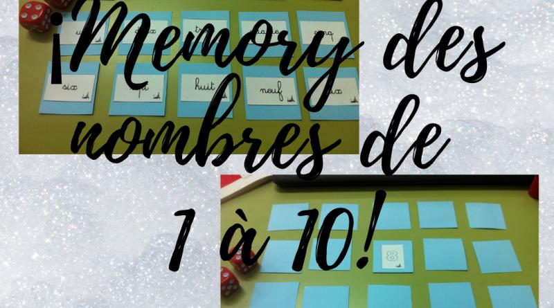 Memory des nombres de 1 à 10
